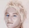 mendibuba: super blondie blue eyes