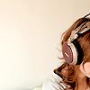 girl - one headphone