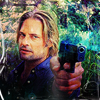 smile... it confuses people: Lost: Sawyer with gun