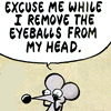remove eyeballs