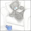 медведь спит с книгой
