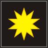Звезда в чёрном квадрате