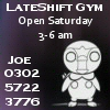 lateshift gym, piplup