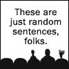 Random sentences