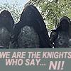 pinkfairy727: Merlin - The Knights Who Say Ni!