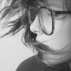 girl; obsessed: * glasses in b&w