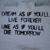 live as if you'll die