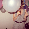 girl; obsessed: * balloon girl