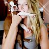 Genevieve: dog: clementine & I bite