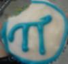 Pi cupcake