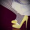 poesy- yellow shoe