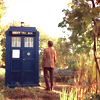Sarah: Doctor Who - Eleven in front of TARDIS