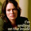 sarah smiling inside