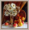 ромашки и яблоки