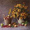 желтые цветики и корзина