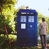 Eleven & TARDIS by llorona_llorona