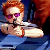 rockin' the purple sunglasses