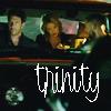them in car, trinity