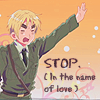 England » Stop in the name of love!