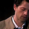 Why all the pearls?Why all the hair?Why anything?: SPN - Cas leaning to right