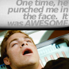 sassy, classy, and a bit smart-assy: Kirk punch face