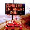 Angie: Text: Zombies in area! RUN!