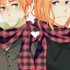 share your scarf it's too cold to be alo